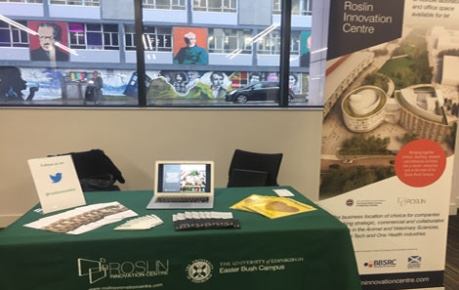 Photo of Roslin Innovation Centre exhibition stand at Life Science Conference