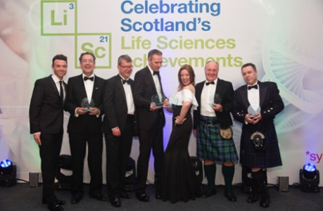 Line up of Life Sciences Scotland Awards Winners 2018