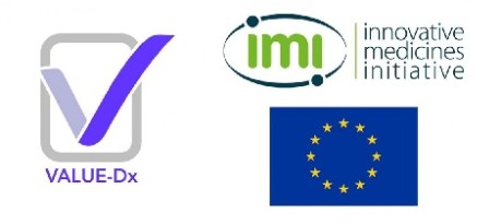 logos of Value-Dx and IMI and EU