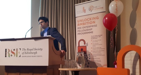 Thomas Farrugia, Beta Bugs presenting at RSE Unlocking Ambition - credit RSE