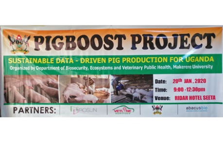 PigBoost project launch banner - Uganda