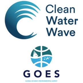 Clean Water Wave and GOES logo - tenant company at Roslin Innovation Centre